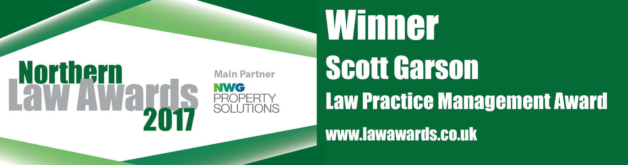 Winners of the Northern Law Awards 2017 for Law Practice Management