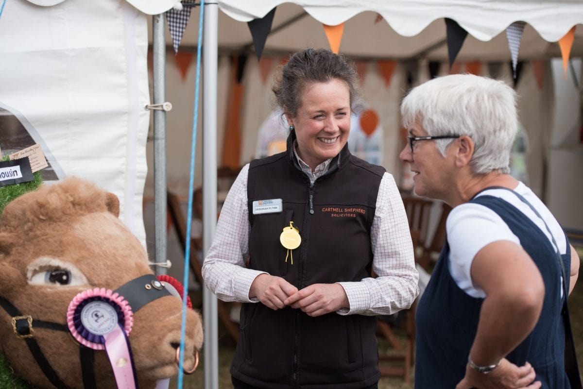 Deborah Flynn, Director with client local agricultural show